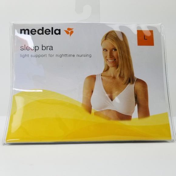 8cd8c7cd78 Medela Nursing Sleep Maternity Bra Size L White